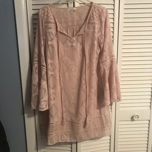 Anthropologie Bohemian Flowy Sleeved Dress